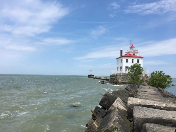 What's it like to live in a Lake Erie lighthouse? Bring water.
