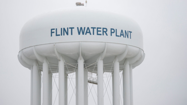 Flint water tower