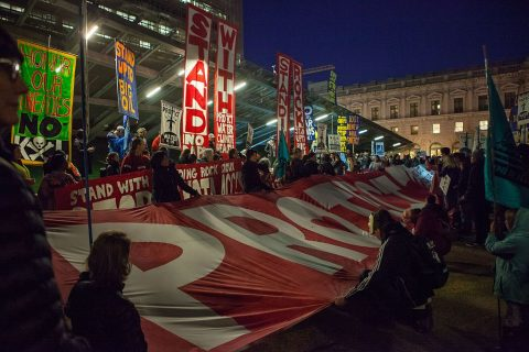 Protest against Dakota Access and Keystone XL Pipelines