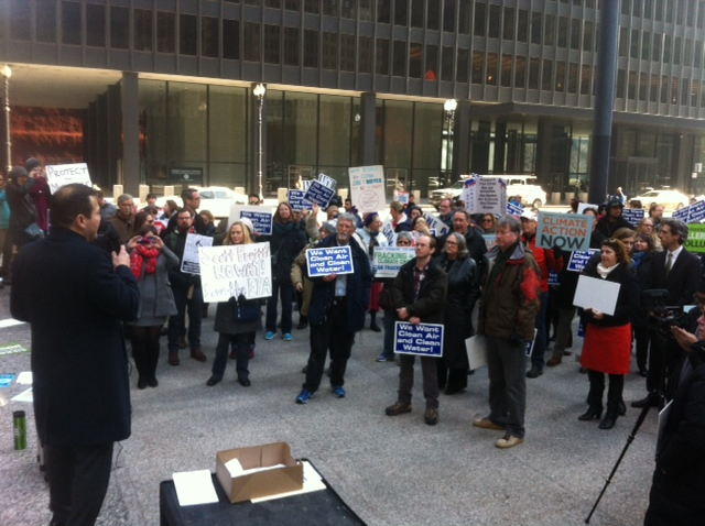 U.S. EPA staff in Chicago rally in early February to protest anticipated cuts at the agency. Photo courtesy Gary Wilson