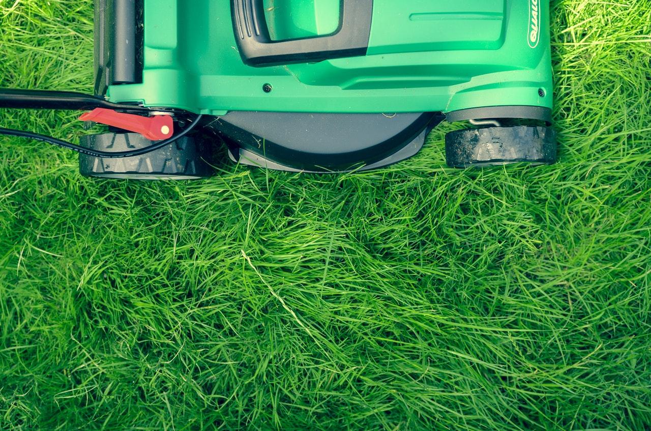 Lawnmower in high grass