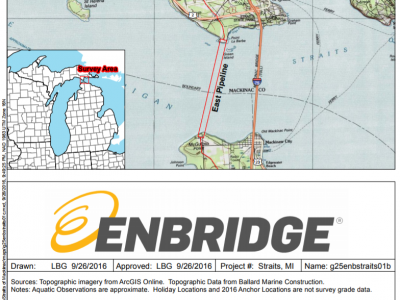 What did reporters ask about the New Enbridge Line 5 Tunnel Agreement?