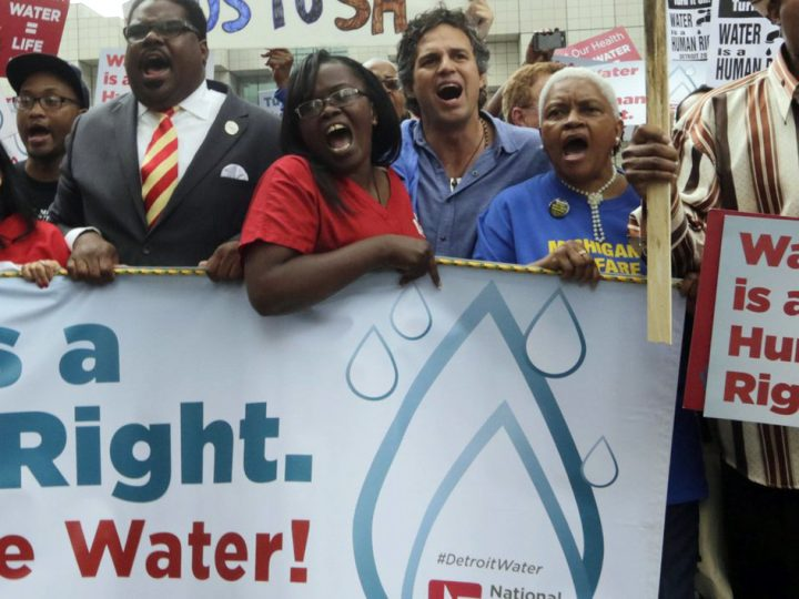 """Michigan water advocates call for """"Public Justice"""" to protect people's rights"""