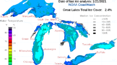 Great Lakes seeing low ice cover compared to this time last year