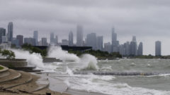 High waves wash out Chicago beaches as Lake Michigan reopens