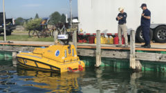 BEN is back! Autonomous vessel launches into Lake Huron from Rogers City, Michigan